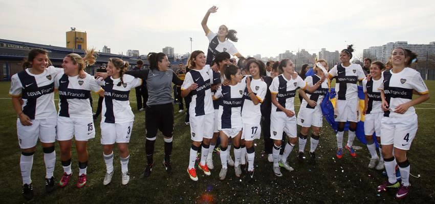 Fútbol Femenino: Las chicas del Club Atlético Boca Juniors, bicampeonas